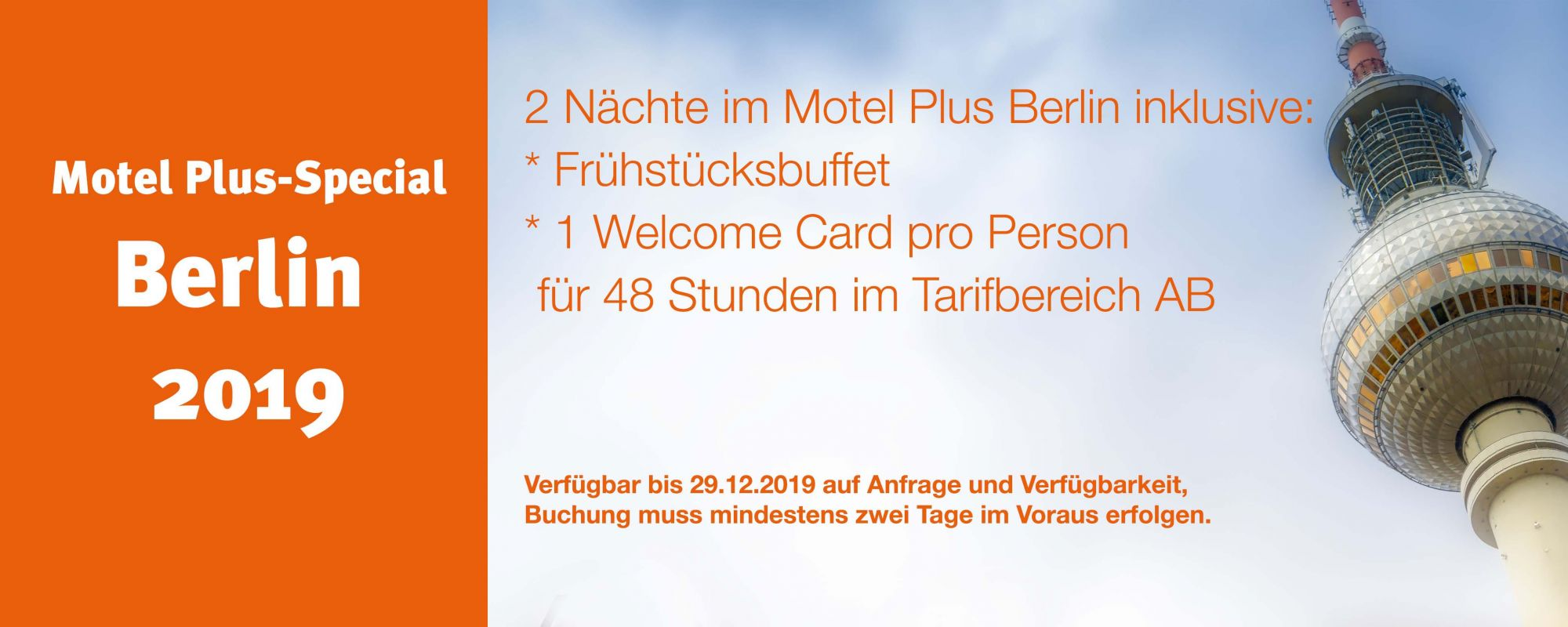 Banner Berlin Special Motel Plus